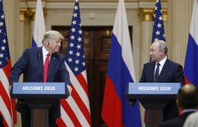 Дональд Трамп и Владимир Путин, фото: ЧТК/AP Photo/Alexander Zemlianichenko