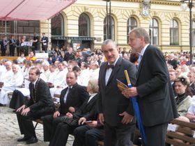 Außenminister Karel Schwarzenberg (Mitte). Foto: Autorin