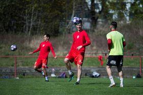 L'entraînement de FK Pardubice, photo: ČTK/Josef Vostárek