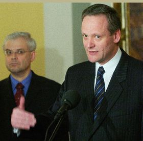 Prime Minister Vladimir Spidla and Foreign Minister Cyril Svoboda, photo: CTK