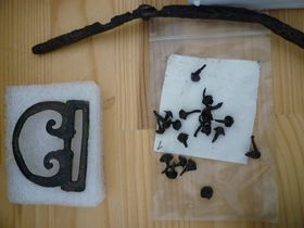 Bronzová spona ahřebíčky