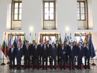 Prime ministers and government delegates of 'Friends of Cohesion', photo: ČTK/Ondřej Deml