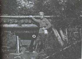 Командир батарей подхорунжий Николай Андреевич Келин, 1917 г., Фото: Архив А. Келина