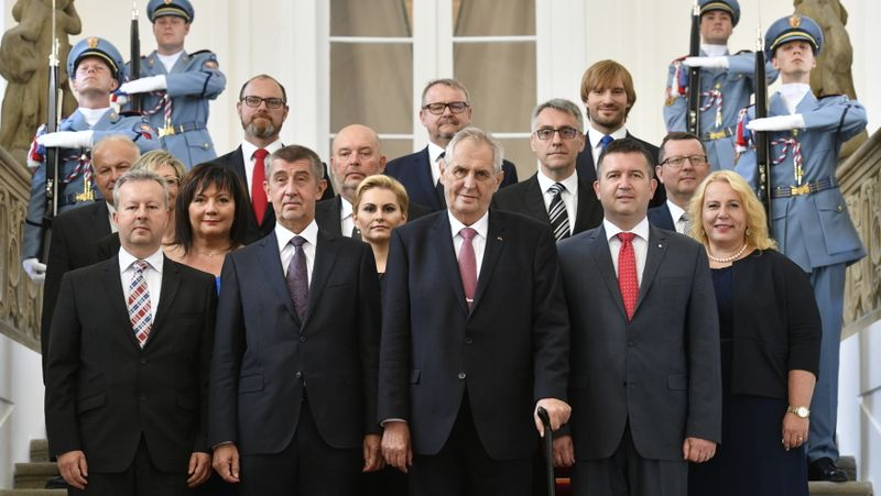 A new coalition of ANO and the Social Democrats has just been sworn in by the president at Prague Castle, photo: ČTK/Kamaryt Michal