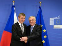 Andrej Babiš avec Jean-Claude Juncker, photo: ČTK