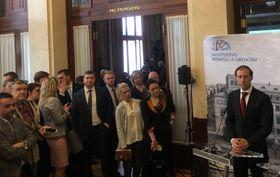 Пресс-конференция в Муниципальном доме, Фото: Катерина Айзпурвит