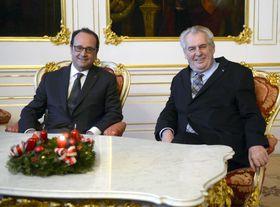 François Hollande y Miloš Zeman, foto: ČTK