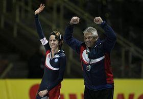 Martina Sáblíková et Petr Novák, photo: CTK