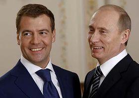 Dmitry Medvedev and Vladimir Putin, photo: CTK