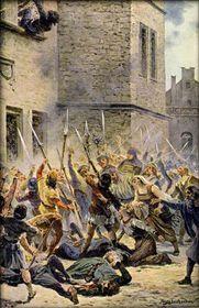 La defenestración el 30 de julio de 1419