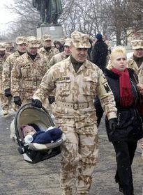 Vojenští policisté se sešli na Vítkově, foto: ČTK