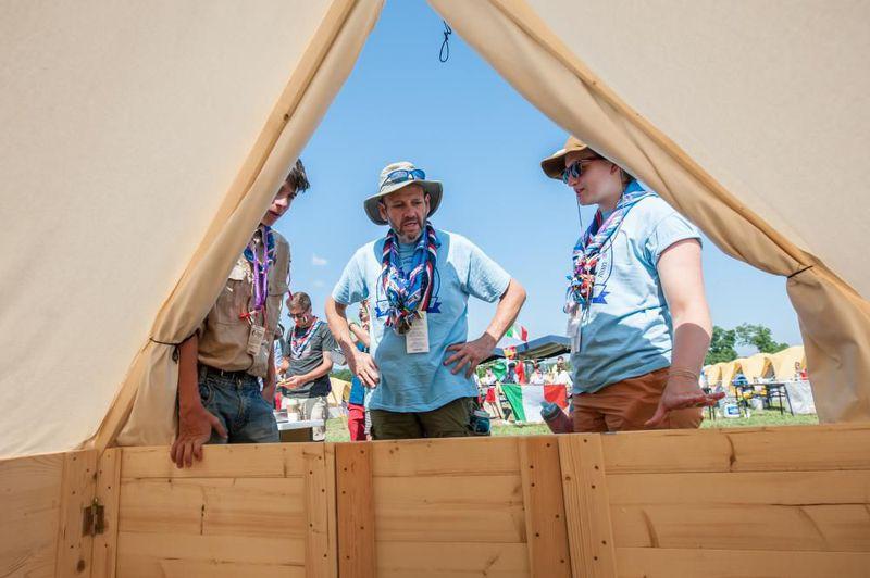2019 World Scout Jamboree - podsada tent, photo: Dominik David / Czech Radio