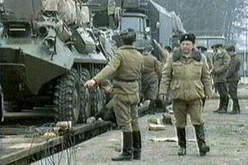 The departure of Red Army
