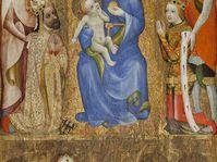 Votivní obraz Jana Očka z Vlašimi, Praha, před 1371, tempera na jedlové podložce, foto: Národní galerie v Praze
