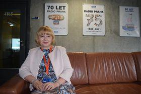 Vendulka Holá en Radio Praga, foto : Ondřej Tomšů