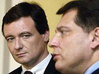 David Rath (vlevo) a Jiří Paroubek, foto: ČTK