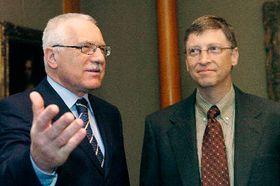 President Vaclav Klaus and Bill Gates, photo: CTK