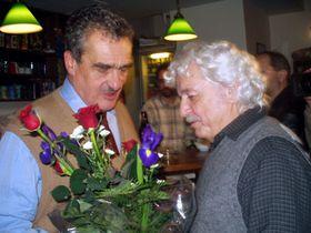 Karel Schwarzenberg aLadislav Smoljak (vpravo), foto: Autor