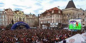 Czech fans on Prague's Old Town Square, photo: CTK