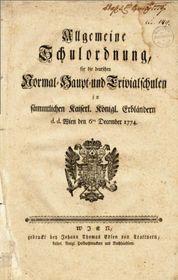 Všeobecný školní řád zroku 1774