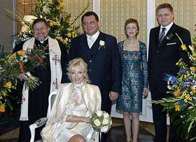 Boda de Jiří Paroubek con Petra Kováčová (Foto: CTK)