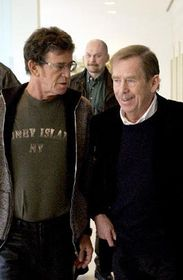 Lou Reed and Vaclav Havel, photo: CTK