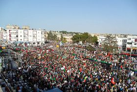 The Arab Spring: Demonstrations in Al Bayda for support of Tripoli and Az Zawiyah, photo: Creative Commons 1.0