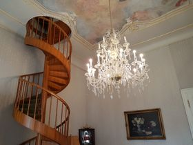 Staircase in the minister's office, photo: Ondřej Tomšů