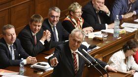 Miloš Zeman vposlanecké sněmovně, foto: ČTK / Michal Kamaryt
