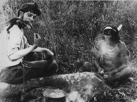 Frič s indiánem Čejkolkem z kmene Toba