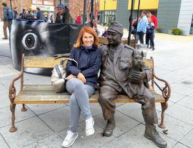 Татьяна Кржепицкая и Бравый солдат Швейк, фото: Facebook profil Taťany Křepické