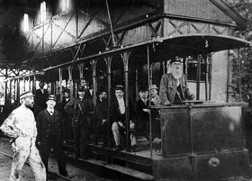 The first electric tram
