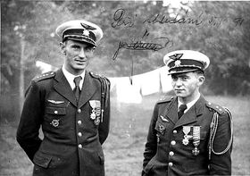 František Peřina (à droite) avec Alois Vašátko