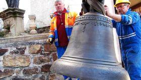 Glocke aus der Kirche in Vimperk, die 1419 gegossen wurde (Foto: Václav Malina, Archiv des Tschechischen Rundfunks)