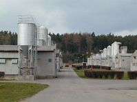 The pig farm in Lety