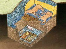 Esquema del sepulcro de Kamýk