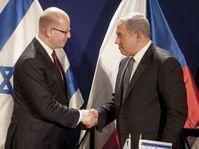 Bohuslav Sobotka, Benjamin Netanyahu, photo: ČTK