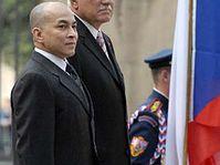 Norodom Sihamoni y Václav Klaus, foto: CTK