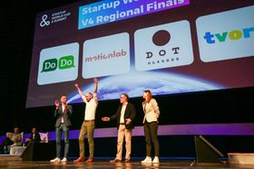 Czech start-up Motionlab, a low-cost platform for creating thousands of personalized videos and ads, took the regional prize, photo: Facebook of the Startup World Cup & Summit