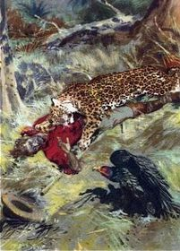 Ilustrace Zdeňka Buriana ke knize Strýček Indián