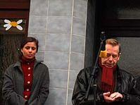 Jitka Taussiková a Václav Havel