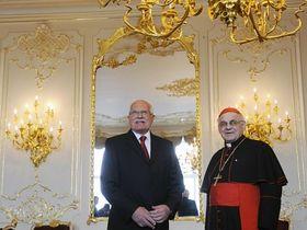 Václav Klaus et  Miloslav Vlk, photo: CTK