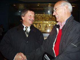 František Maryška und Danny Douglas traffen sich nach 25 Jahren (Foto: Jana Kopecká, Karlovarský deník)