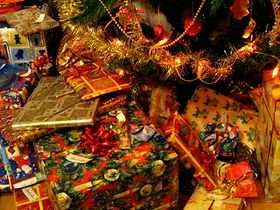 Presents under the Christmas tree is a typical Christian tradition