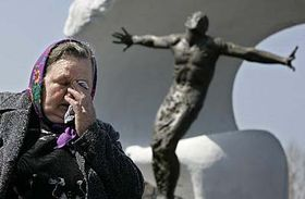 Mother of firefighter Vasily Ignatenko, whose crew was the first to fight the fire at the Chernobyl nuclear plant when it's Reactor No. 4 exploded on April 26, 1986, photo: CTK