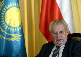 Presidente checo, Miloš Zeman, en Kazajistán. Foto: ČTK