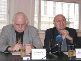Milan Knížák y Tomáš Vlček