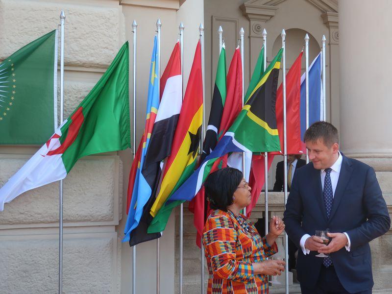 Czech Foreign Minister Tomáš Petříček with ambassador of Ghana, photo: Magdalena Hrozínková