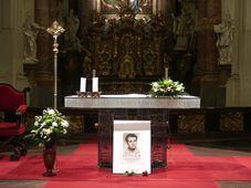Foto von Jan Palach in der Salvatorkirche (Foto: Martina Schneibergová)