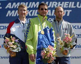 Бронзовый Томаш Йержабек в Лахти (вправо), фото ЧТК